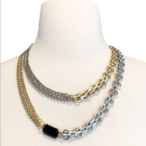 STEVE MADDEN Two-Tone Chunky Statement Necklace